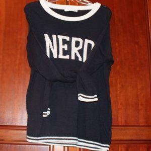 "Say What? Light ""Nerd"" Sweater"